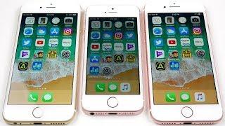 iPhone 6 vs iPhone SE vs iPhone 7 iOS 11 Beta 8!