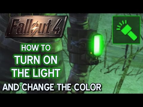 How to turn on the light and change the color • Fallout 4 • PC • PS4 • XBOX