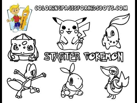 ColoringBuddyMike: Starter Pokemon Coloring Pages To Print - YouTube