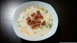 Сырный Суп с  Копченой Курицей и Плавленым сыром. Простой Рецепт