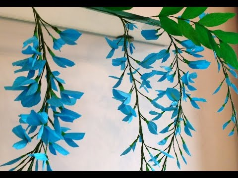 How to make Paper Flower Wisteria (Flower # 71)