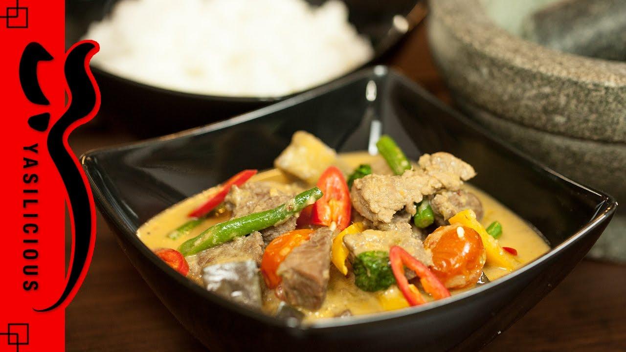 ROTES THAI CURRY mit Rindfleisch – asiatisches Rezept - thailändisch ...