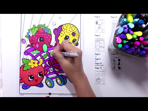Shopkins #5 Coloring Shopkins Fruits Shopping with Sharpie by DarlingDolls