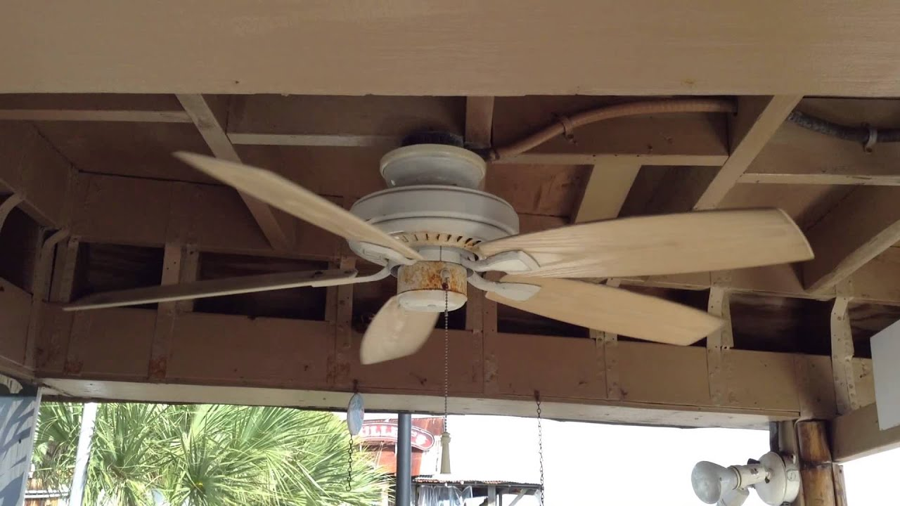 "42"" hampton bay gazebo ii ceiling fan - youtube"