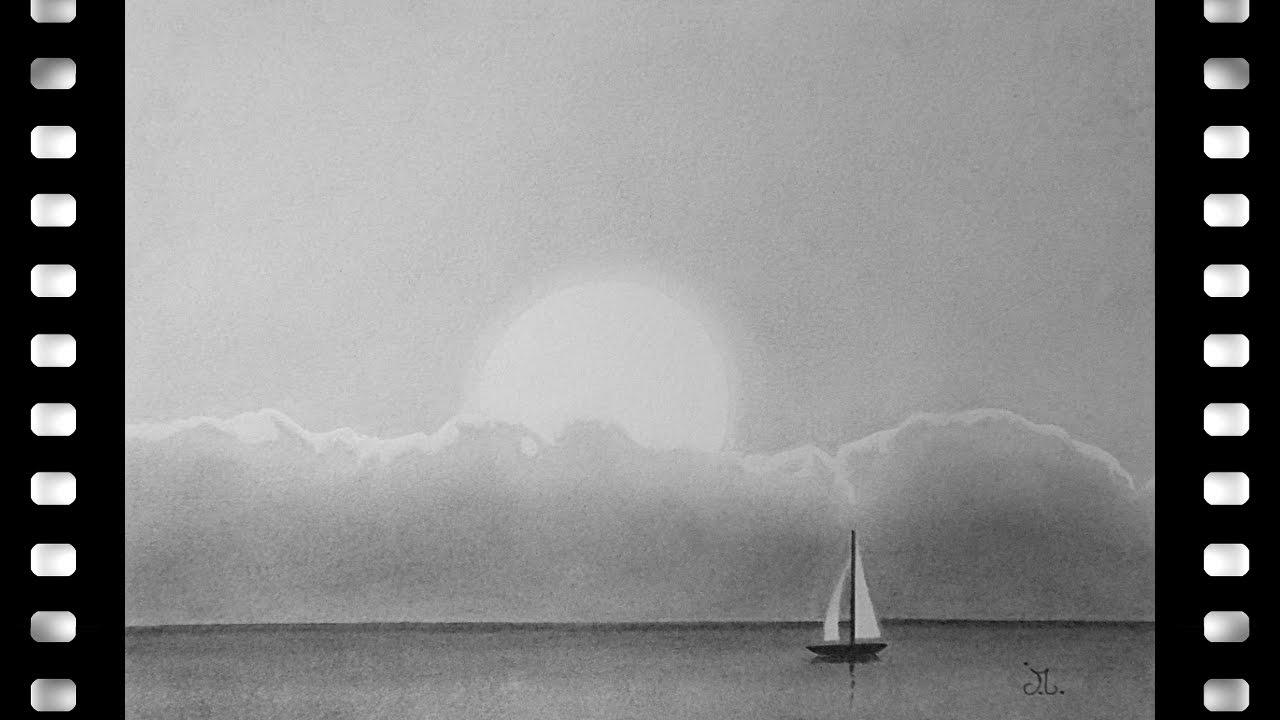 Comment dessiner un coucher de soleil youtube - Dessin coucher de soleil ...