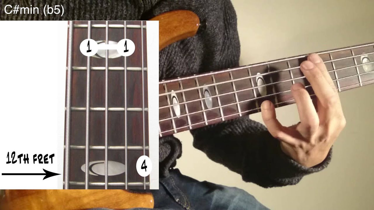 Tutorial 5 Strings Bass Chords Etude Youtube