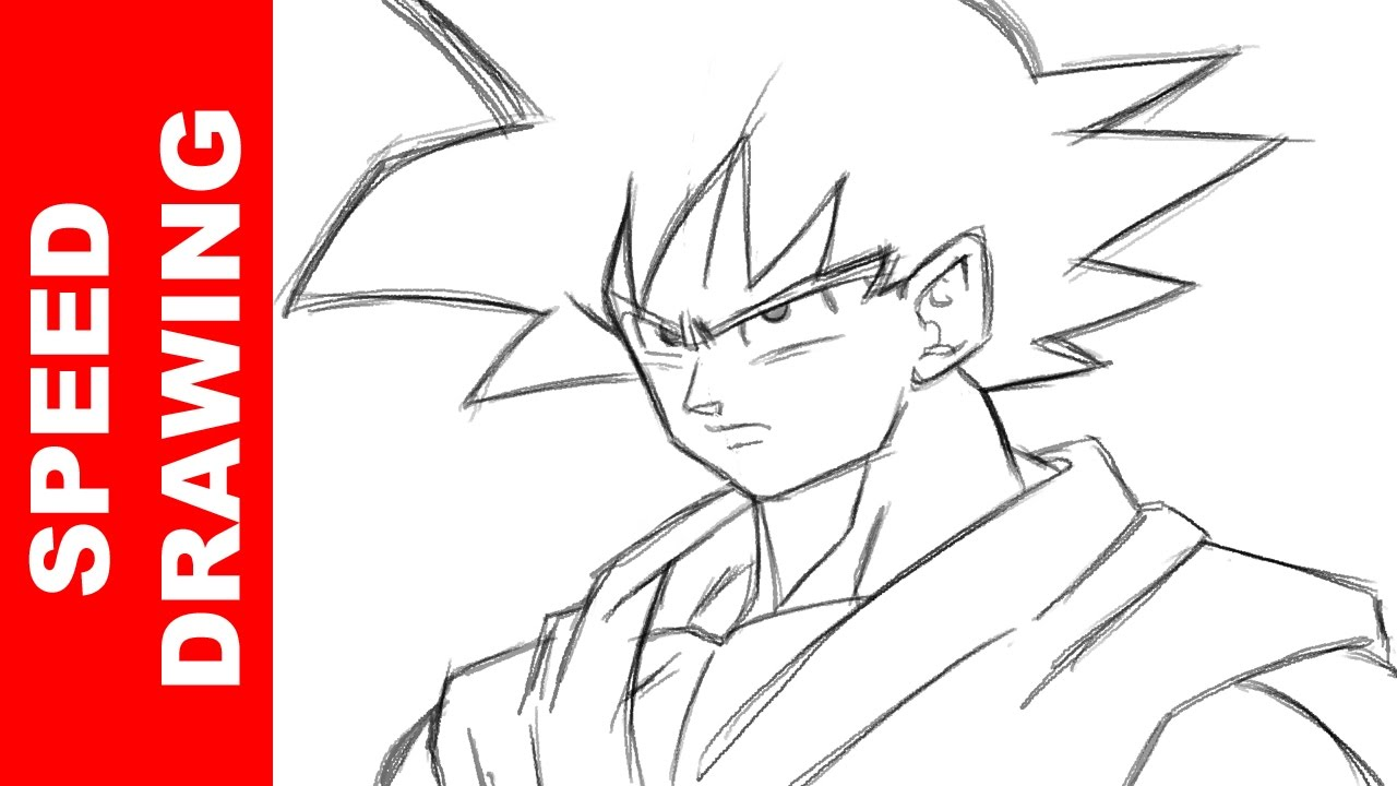 How To Draw Goku Dragon Ball Super Youtube