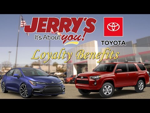 Jerry's Toyota Baltimore Maryland New Car Loyalty Benefits