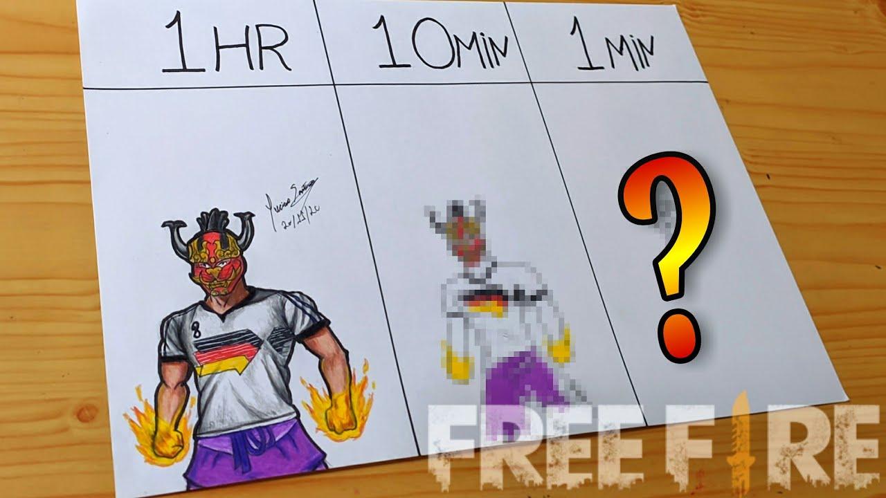 DESAFIO DESENHANDO RÁPIDO // SPEED CHALLENGE FREE FIRE - 1Hr.| 10min.| 1min.| Gambar free fire