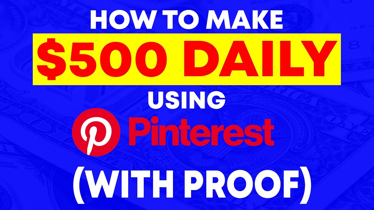 Affiliate Marketing With Pinterest - A $500/Day Method Without A Blog!(WITH PROOF!)