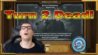 Hearthstone: He IS Dead On Turn 2 ! Brawl of Champions Round Two - Tavern Brawl Part 1