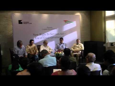 Maharashtra RTS   an open forum at the Press Club 11 Feb 15 Part 3