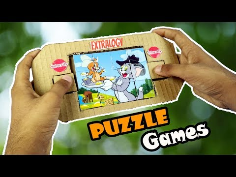 Diy Puzzle Games From Cardboard | How To Make Tom And Jerry  Puzzle At Home