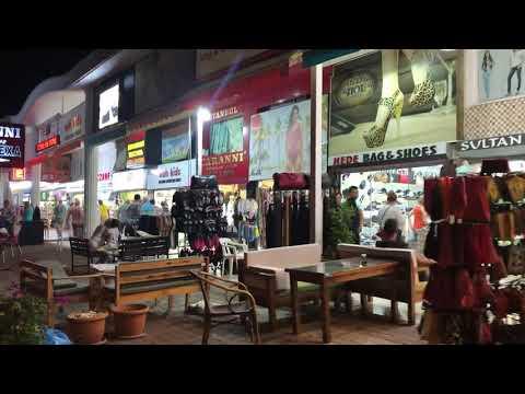 Вечерняя торговля в Турции Кемер Кириш. Турецкий рынок видео