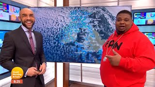 Big Narstie does weather update on Good Morning Britain