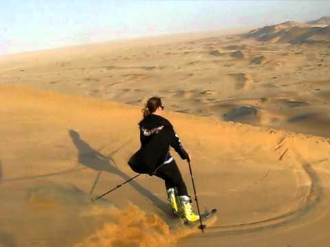 dune skiing namibia