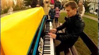 Сумы. Уличный пианист. Артем Гарин.