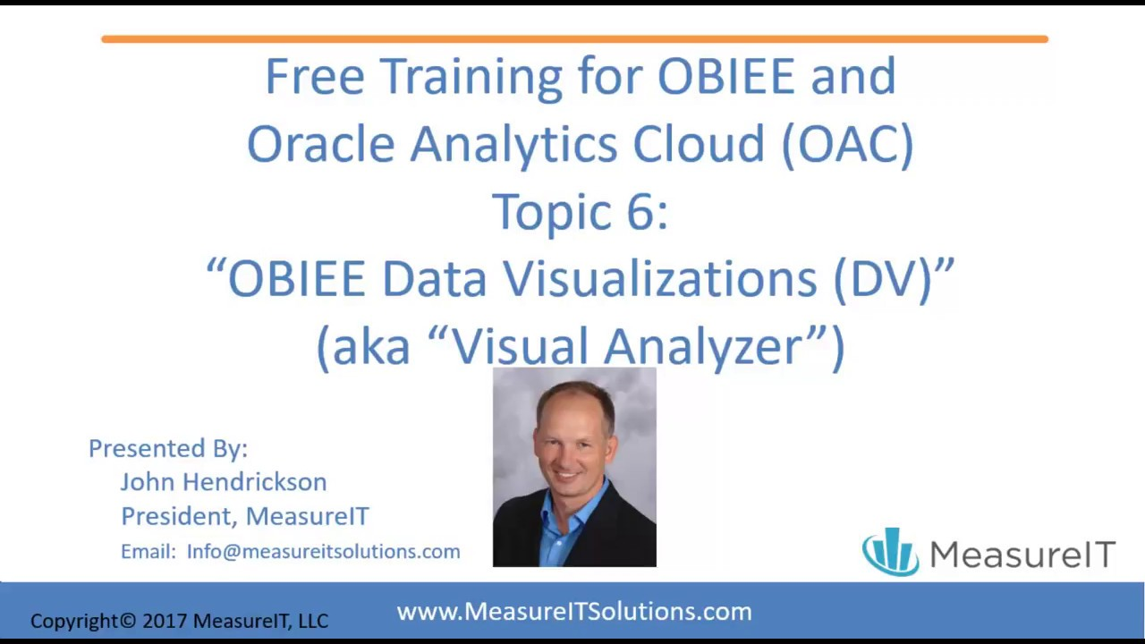 MeasureIT AnalyticsOAC and OBIEE Training