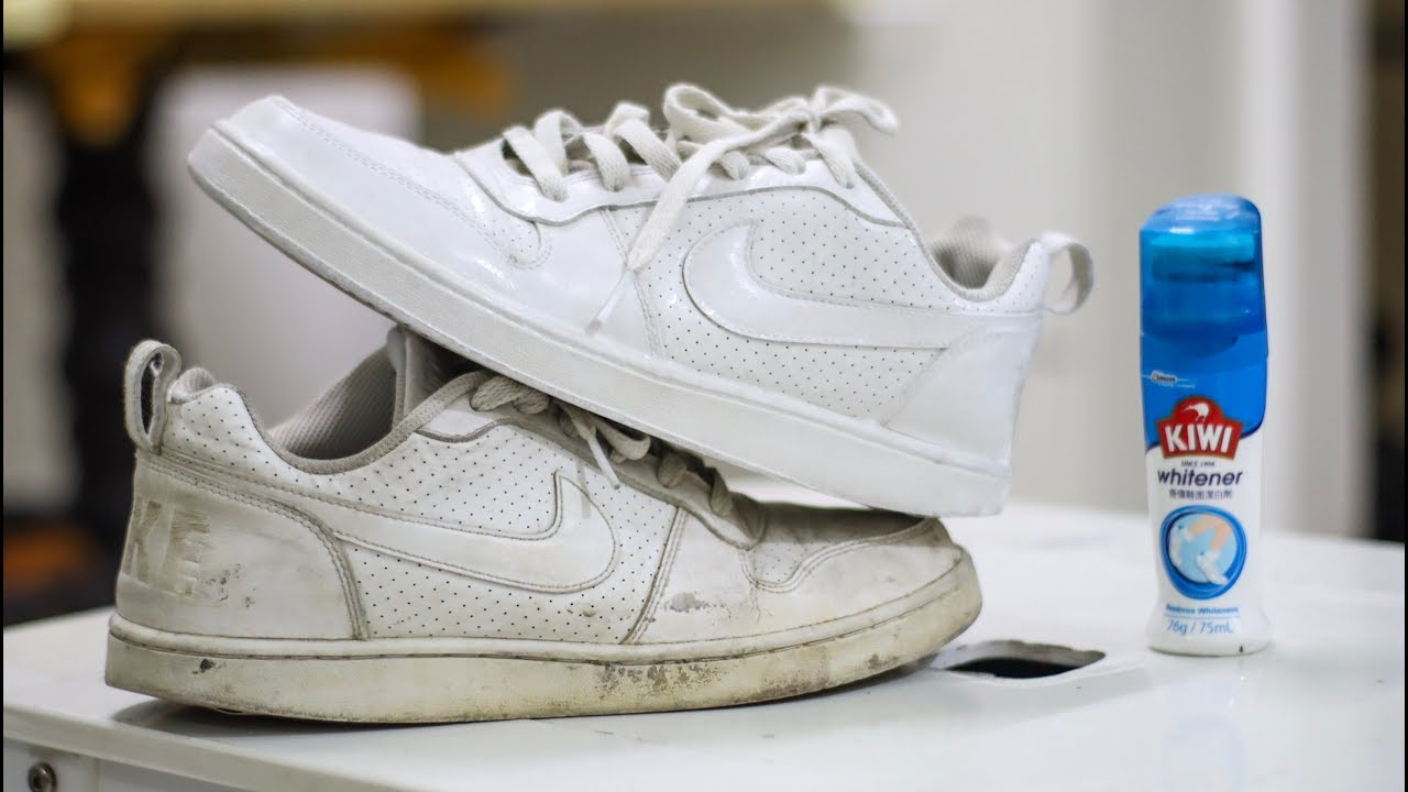 HOW TO CLEAN WHITE SHOES - YouTube