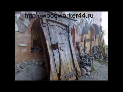 Очень красивые и оригинальные двери из дерева