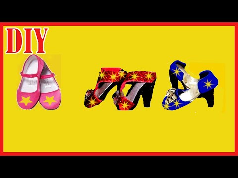 2 DOLL SHOES DIY | EASY MINIATURE SHOES FOR DOLLS TUTORIAL