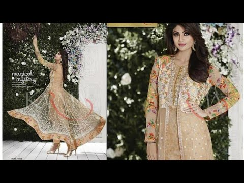 7519a80714 Paytm mall anarkali suit review|online shopping review|shrug style anarkali  suit