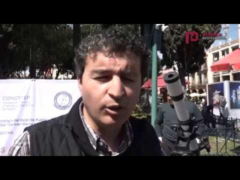#PueblaNoticias - Mercurio se logró observar desde el zócalo de Puebla