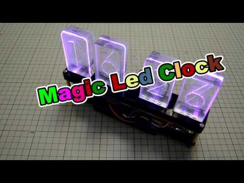 Крутые часы из оргстекла на Arduino и Neopixels