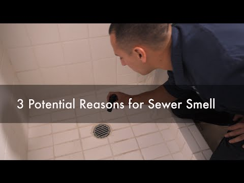 why do i have a sewer smell in my bathroom 3 potential