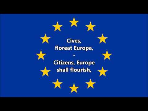 Anthem of Europe (Latin/English)