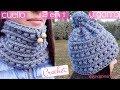 2 en 1 Cuello y gorro de ganchillo a la vez. Scarf and crochet hat at the same time.