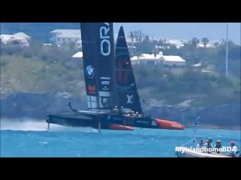 Oracle Team USA and Emirates Team New Zealand practicing 6.22.17