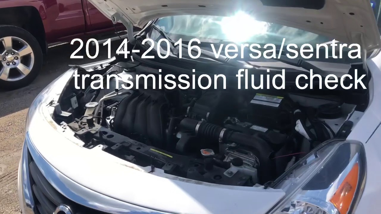 2014 Nissan Versa transmission fluid check