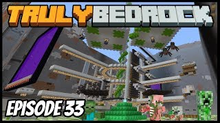 Accidental Mob Farm! - Truly Bedrock (Minecraft Survival Let's Play) Episode 33