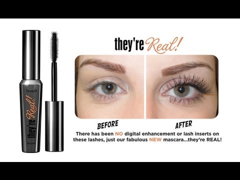 5953999d34b BENEFIT: THEY'RE REAL MASCARA REVIEW PLUS DEMO! - YouTube