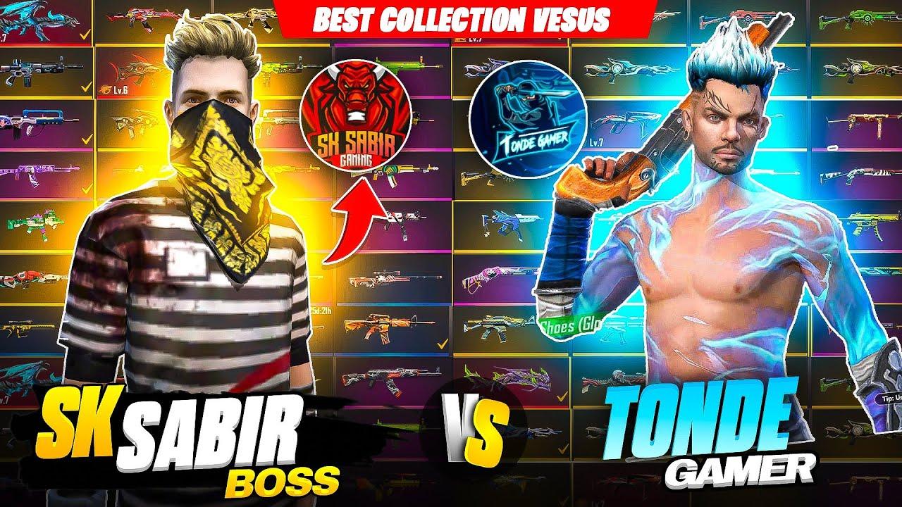 Sk Sabir Boss Vs Tonde Gamer Most Rare Gun Collection Battle Gone Extremely Wrong 🥺 Garena Free Fire