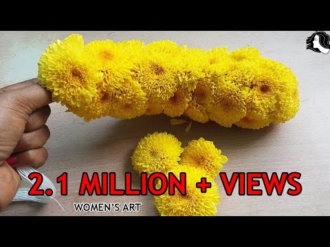 how to make samanthi flower garland | samanthi poo malai kattuvathu eppadi in tamil