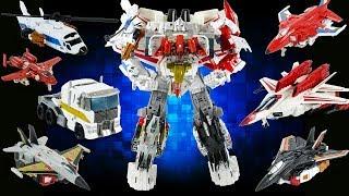 Transformers JetPower Optimus Maximus ( Jetfire + Optimus Prime + Aerialbots ) Combine Robot Toys