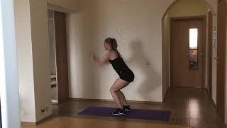 Высокоинтенсивная кардио тренировка от Анны Половинкиной