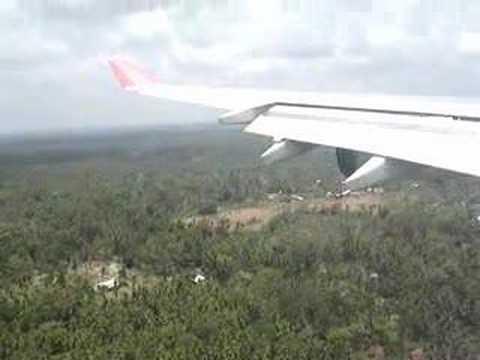 Sri Lankan Airlines Landing in Colombo Sri Lanka Airbus A340