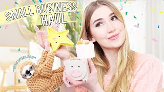 SMALL BUSINESS HAUL !! *handmade candles, crochet & pottery*