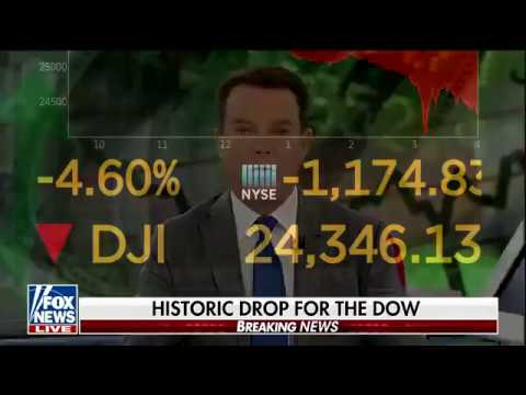 Watch Live: The Dow Jones drops to lowest levels of year. Update