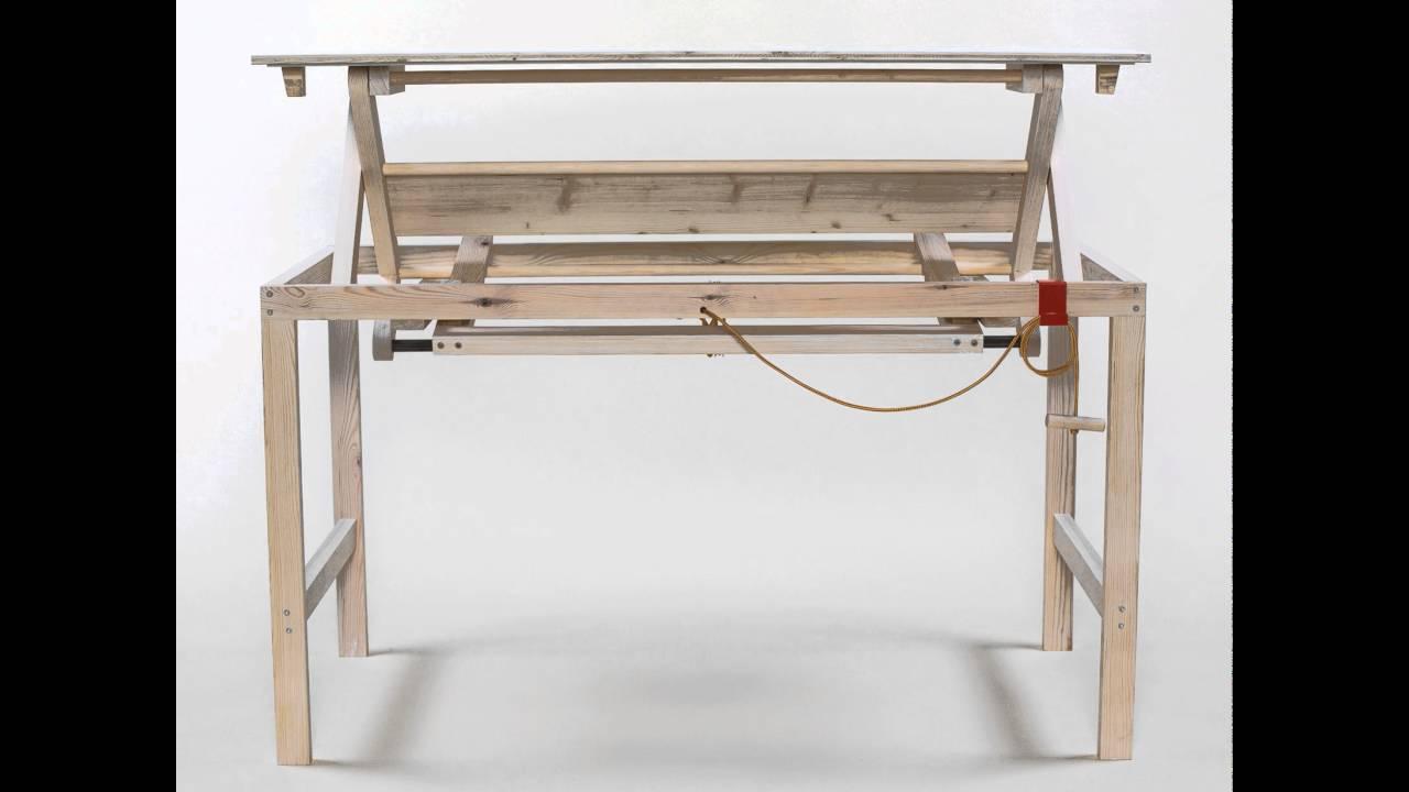 h henverstellbarer open design schreibtisch von sebastian zachl youtube. Black Bedroom Furniture Sets. Home Design Ideas