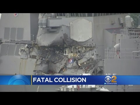 Bodies Found In Navy Ship After Collision