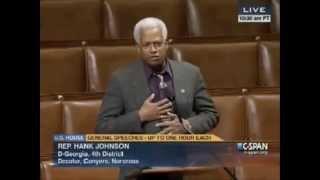 Hank Johnson Talks About Midgets in Congress, Apologizes the Next Day