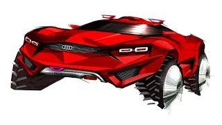 How to sketch car (Concept SUV)