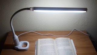 Настольная светодиодная лампа с Алиэкспресс (3 цвета). Распаковка и обзор
