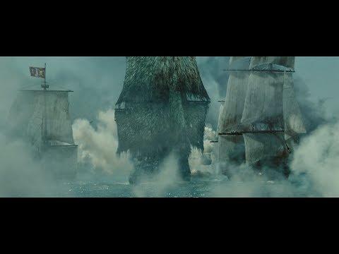 Летучий Голландец крушит корабли. Мёрсер докладывает Катлеру Беккету. HD