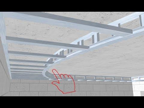 Двухуровневый потолок из гипсокартона поэтапно.