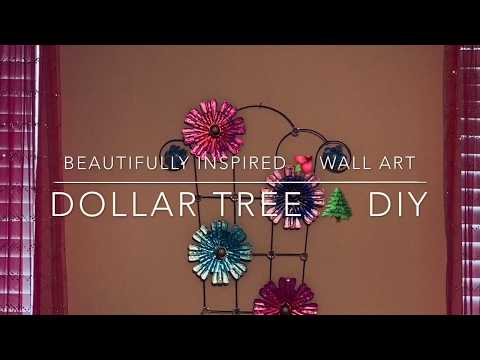 BEAUTIFULLY INSPIRED METAL WALL ART || DOLLAR TREE 🌲 DIY